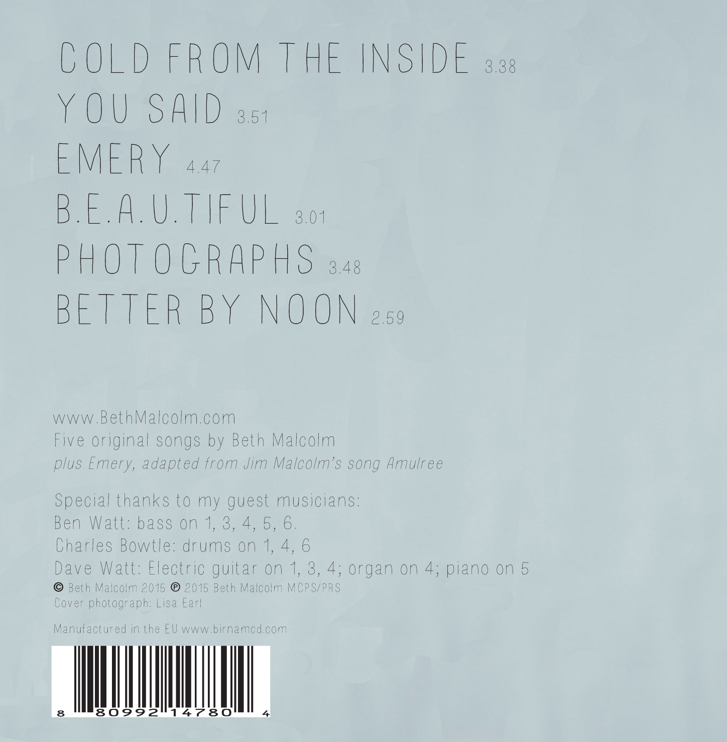 Back Cover of 'Better By Noon'